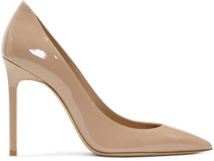 Saint Laurent Beige Patent Anja Heels