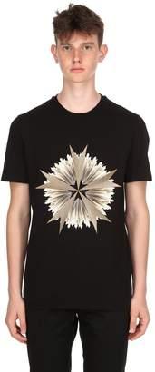 Neil Barrett Star Cotton Jersey T-Shirt
