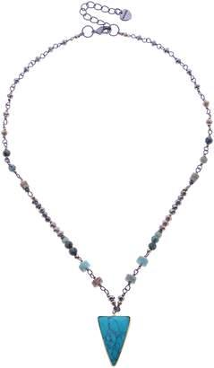 Nakamol Design Bead, Stone & Crystal Short Necklace