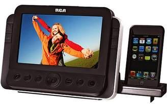 "RCA iPod/iPhone Dual Alarm Clock Radio w/ Docking Station and 7"" TFT Display"