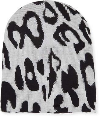 Michael Stars Animal-Print Knit Beanie