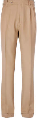 Gucci Pleated Wool Trousers - Men - Neutrals