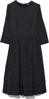 Aspesi Long Sleeve Virgin Wool Dress in Black