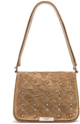 Saint Laurent Amalia Stud Satchel Bag in Beige Vintage | FWRD