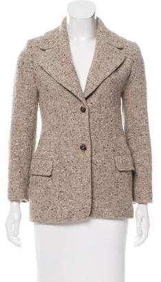 Michael Kors Structured Donegal Knit Blazer