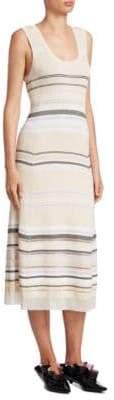 Proenza Schouler Striped Scoopneck Dress