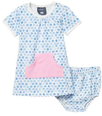 Toobydoo Harlow Watercolor Dot Pocket Dress (Baby, Toddler, & Little Girls)