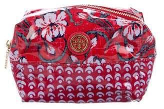 Tory Burch Printed Zip Cosmetic Bag