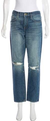 FRAME Distressed Mid-Rise Jeans w/ Tags