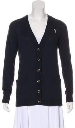 Marc by Marc Jacobs Logo Embroidered Long Sleeve Cardigan
