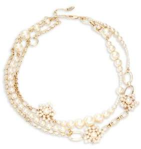 Miriam Haskell Faux Pearl Multi-Strand Necklace