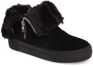 J/Slides Allie Faux Fur Lined Platform Boot