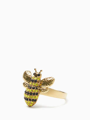 Kate Spade Picnic perfect pave bee ring