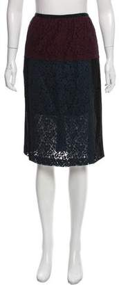 Peter Som Lace Pencil Skirt