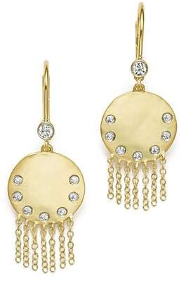 Meira T 14K Yellow Gold Disc and Fringe Earrings with Diamonds