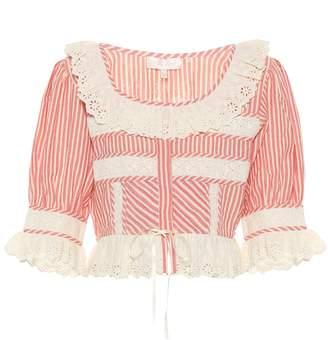 LoveShackFancy Tiana cotton top