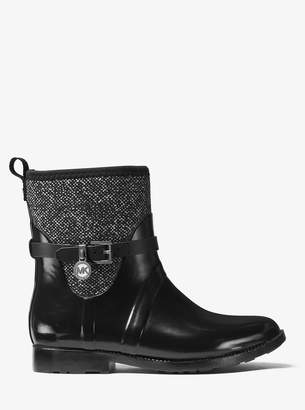 MICHAEL Michael Kors Tweed and Rubber Rain Boot