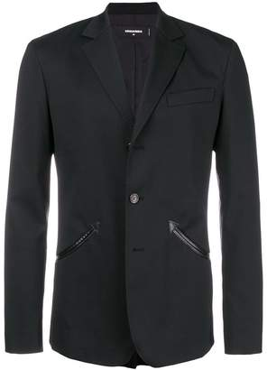 DSQUARED2 slim-fit button blazer