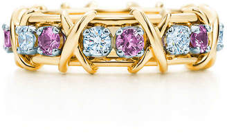 9760b3f383c7 Tiffany   Co. Schlumberger Sixteen Stone ring with diamonds and pink  sapphires.
