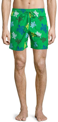 Vilebrequin Moorea Turtle-Print Swim Trunks, Green $250 thestylecure.com