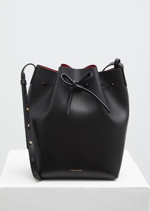 Mansur Gavriel black / flamma bucket bag $595 thestylecure.com
