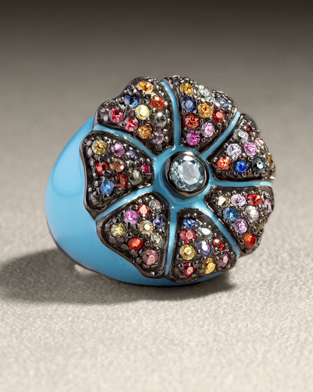 MCL by Matthew Campbell Laurenza Enameled Ring, Blue