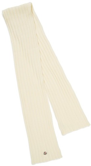 MonclerWomen's Moncler Rib Knit Wool Scarf