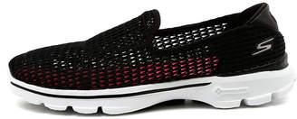 Skechers 14054 go walk 3 superbreath 2 Black-white Sneakers Womens Shoes Comfort Casual Sneakers