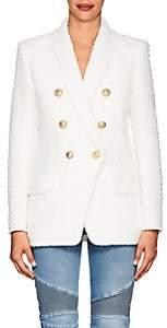 Balmain Women's Tweed Double-Breasted Blazer - Natural