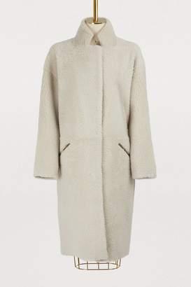 32 Paradis Sprung Frères Australe shearling long coat