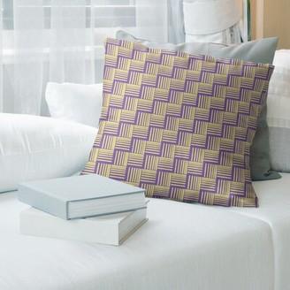 Brayden Studio Jaya Classic Basketweave Stripes Throw Pillow Cover Brayden Studio