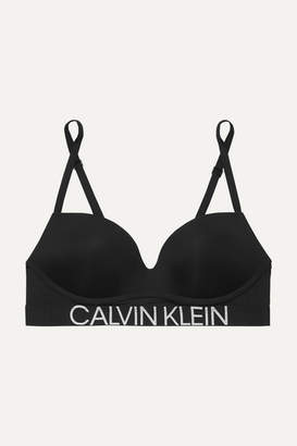 Calvin Klein Underwear Statement 1981 Stretch-jersey Push-up Bra - Black