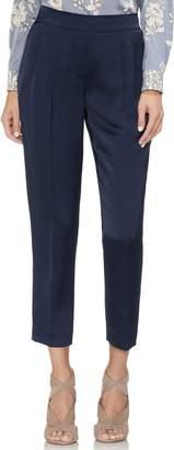 Vince Camuto Slim Leg Front Pleat Satin Pants