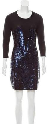 Markus Lupfer Sequined Wool Dress