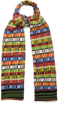 Etro Striped wool-blend knit scarf