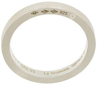 Le Gramme simple brushed ring