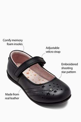 Next Girls Black Narrow Fit Star Mary Jane Shoes (Older)