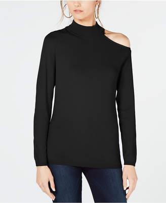 INC International Concepts I.n.c. One Shoulder Mock Turtleneck Sweater