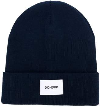 Dondup logo patch beanie
