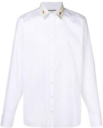 Gucci detailed collar shirt