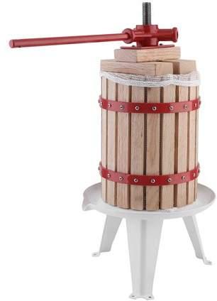 TRYIF 1.6 Gallon Fruit Wine Press Machine Durable Apple Grape Crusher Heavy-Duty Juice Maker Tool With Ratchet Handle