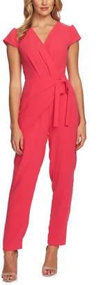 CeCe Cap Sleeve Faux Wrap Jumpsuit