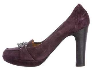Hermès Suede Chain-Link Pumps 2014 new cost cheap price clearance best prices outlet locations online PiJkEnQjLl
