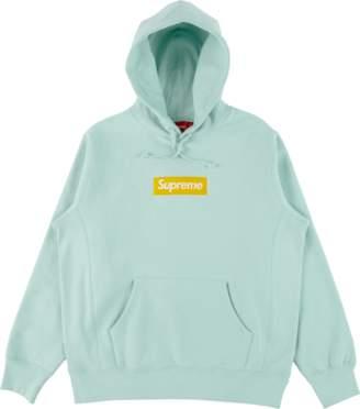 Supreme Box Logo Hooded Sweatshirt - 'FW 17' - Ice Blue