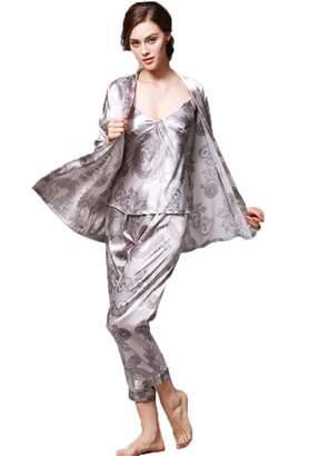 Dragon Optical Hngchangji Women Satin Sleepwear Female Silk Pajama Sets  Ladies Pyjamas Plus Size Print Women 419b4d478