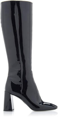 Prada Patent-Leather Knee Boots