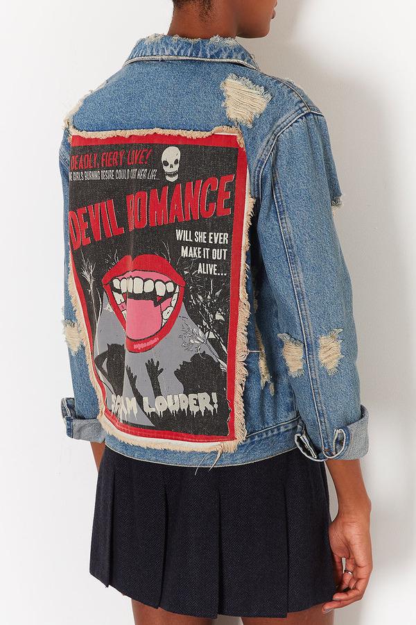 Topshop MOTO 'Devil Romance' Jacket
