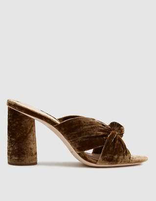 Loeffler Randall Coco High Heel Knot Slide in Sienna