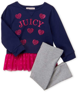 Juicy Couture Infant Girls) Two-Piece Logo Heart Tunic & Leggings Set