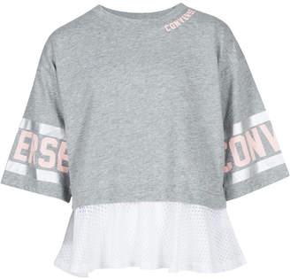 Converse Big Girls Mesh-Trim Graphic-Print T-Shirt